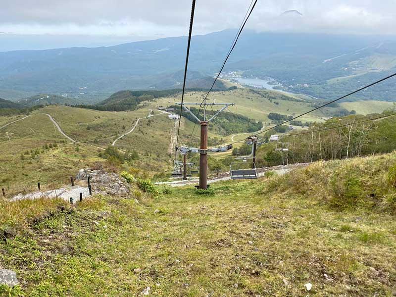 車山高原のスキーリフト